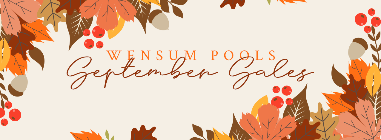 Wensum Pools September Sales Weekend is almost here! // Wensum Pools Ltd