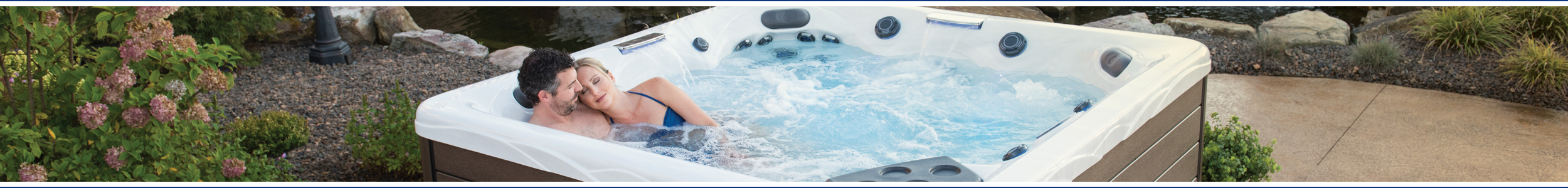 Banner image of a J-200 Jacuzzi from Wensum Pools Ltd