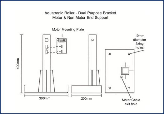 Aquatronic Roller Dual Purpose Bracket Diagram // Aquatronic Auto Roller Systems at Wensum Pools Ltd