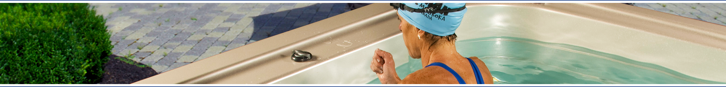 Banner image for swim spas available from Wensum Pools Ltd
