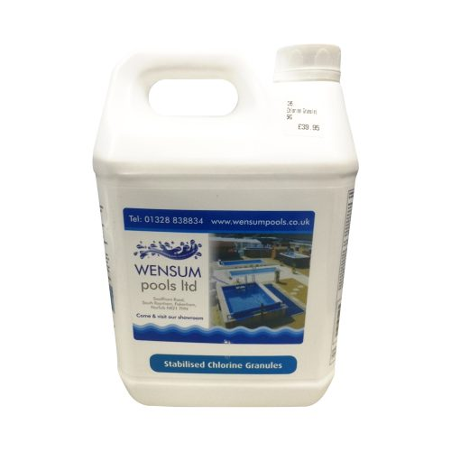 Stabilised Chlorine Granules (5kg) // Shop Online with Wensum Pools Ltd