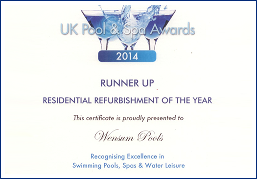 Residential Refurbishment 2014 (Runner Up) // Swimming Pool Refurbishments by Wensum Pools Ltd