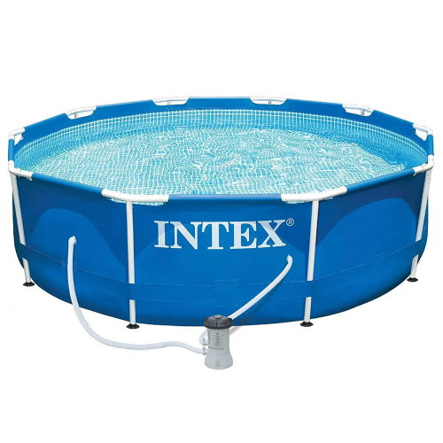 Intex 10ft x 3ft metal frame swimming pool with filter pump