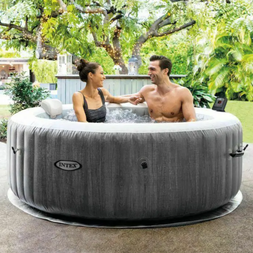 INTEX greywood deluxe purespa 4 person inflatable hot tub