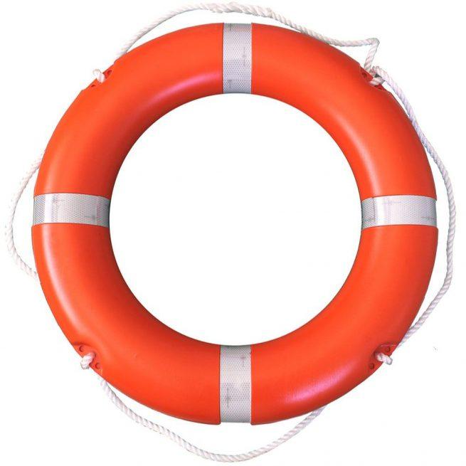 "30"" orange safety swim ring"